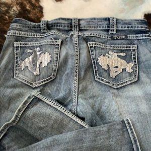 Cowgirl Tuff Wild n Wooly Shimmer 34w x 31l